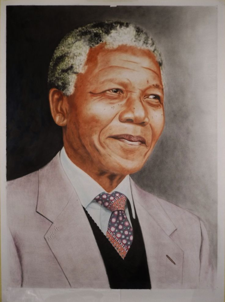 Nelson Mandela became very famous since he did the anti apartheid in South Africa, then he became the President in that country (1994-1999 period).  This oilpainting is made using only 3 basic color (red-yellow-blue) + black, with the technique of painting called Drybrush.