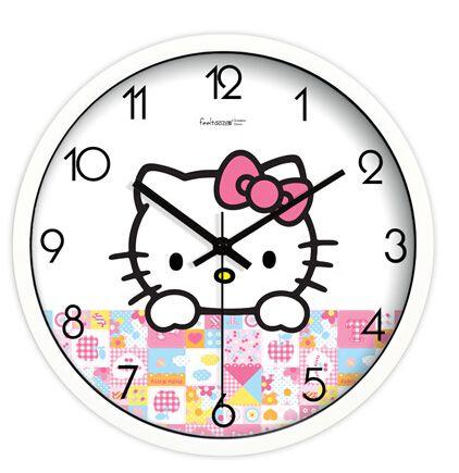 Barato 10 polegada olá Kitty bonito relógio de quartzo colock parede home decor para crianças, Compro Qualidade Roteadores instalados diretamente de fornecedores da China: