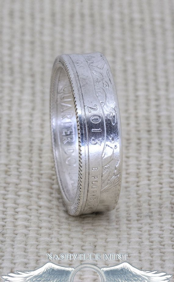 38 Best Silver Quarter Coin Ring Images On Pinterest
