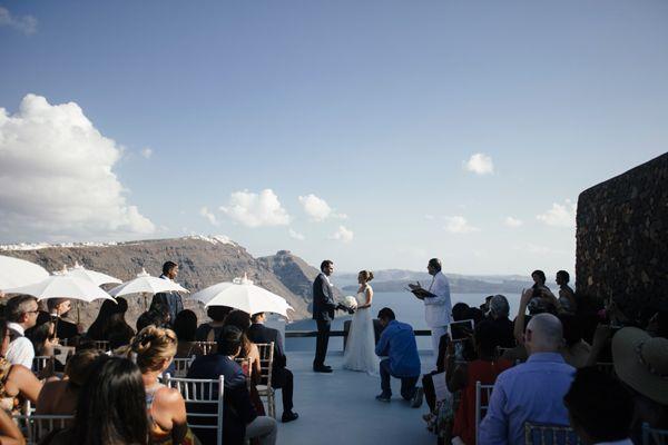 White & blush destination γαμος στη Σαντορινη|Anne-Marie & Shahid  See more on Love4Weddings  http://www.love4weddings.gr/white-blush-wedding-in-santorini/
