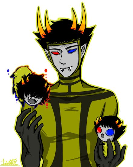 the psiioniic with grub mituna and sollux homestuck