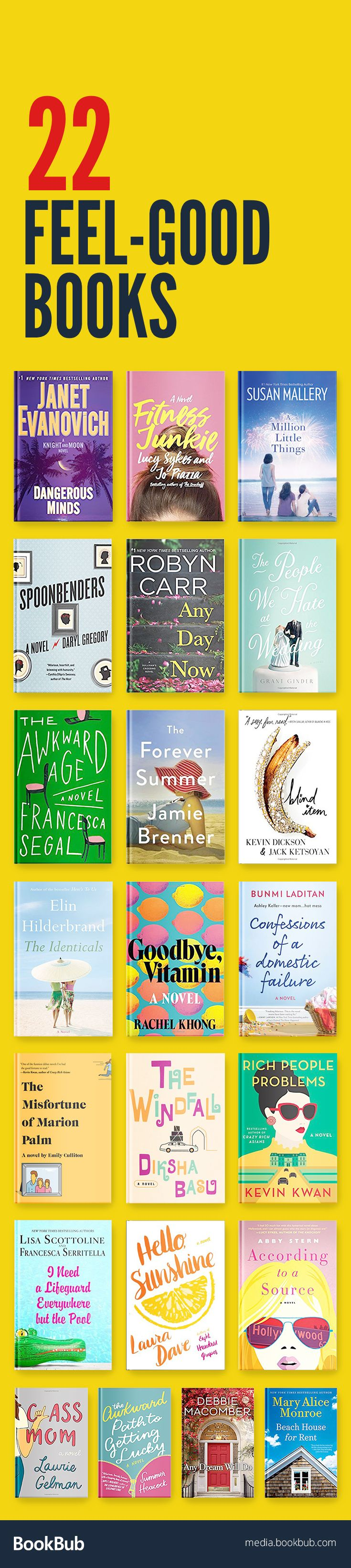 22 feel-good books for women. These inspirational, empowering, and funny books are sure to leave you with a smile on your face and make you laugh out loud.