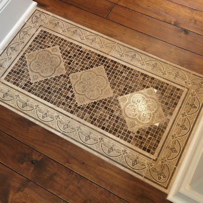 9 best images about tile rug inlays on pinterest white for Floor inlay designs