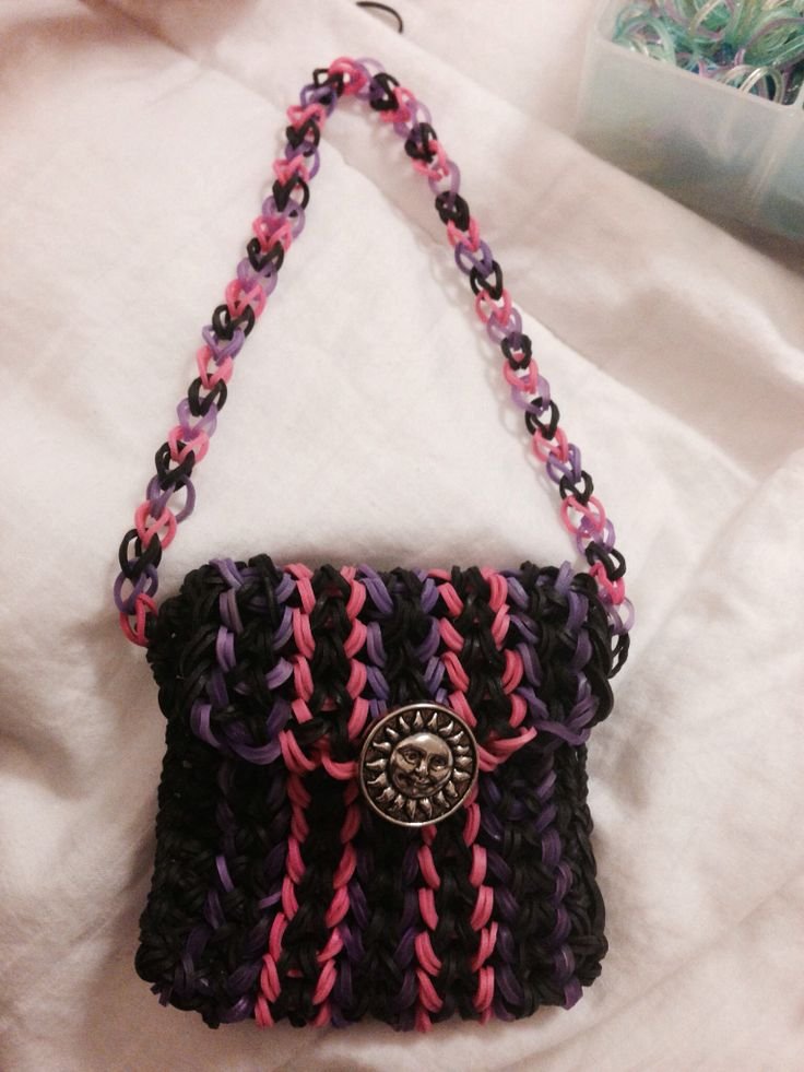Rainbow loom purse | Rainbow room | Pinterest | Loom ... Rainbow Loom Mini Purse Craft Life