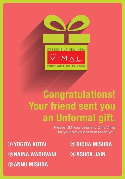 Congratulations! Here are the winners for the Unformal Gifting. Winners don't forget to DM your details.
