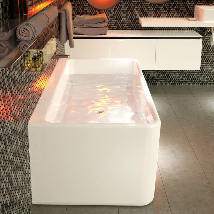 Cube 1800 Back to Wall Freestanding Bath #practical #smallspacebathroom #comfortable #bathfortwo