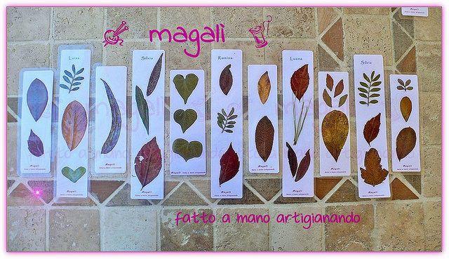 magalì: segnalibri con foglie...vere