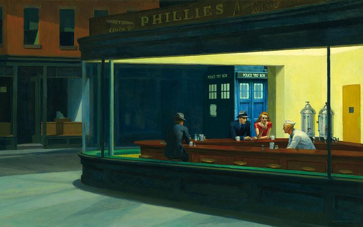 ed hopper meets the Doctor.