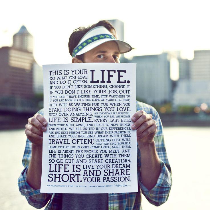 Holstee Manifesto Poster - klein