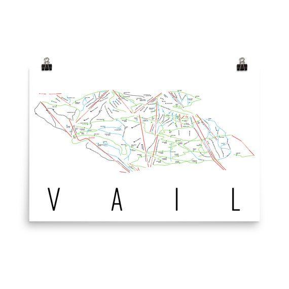 Vail Ski Map Art, Vail CO, Vail Trail Map, Vail Ski Resort Print, Vail Poster, Vail Print, Vail Colorado, Vail Wall Art, Art, Gift