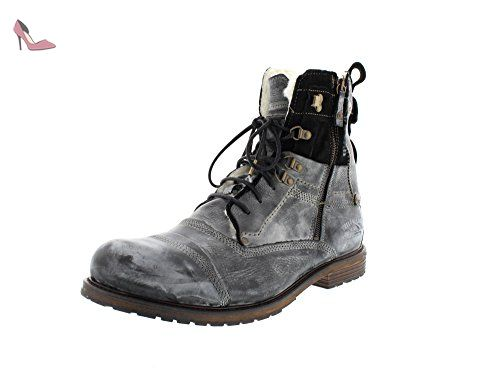 Industrial M, Bottes Motardes Homme, Gris (Moss Moss), 45 EUYellow Cab