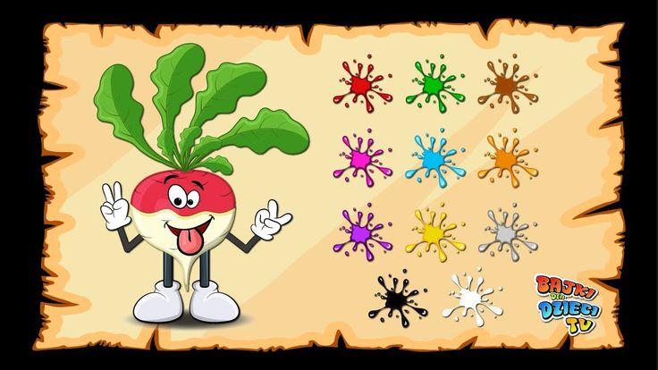 Nauka kolorów dla dzieci. Rzepka Stefka uczy jak nazwać kolory po polsku :)