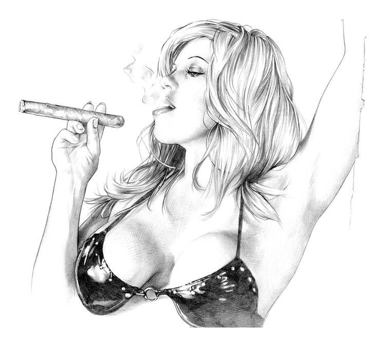See Latino smoking fetish her