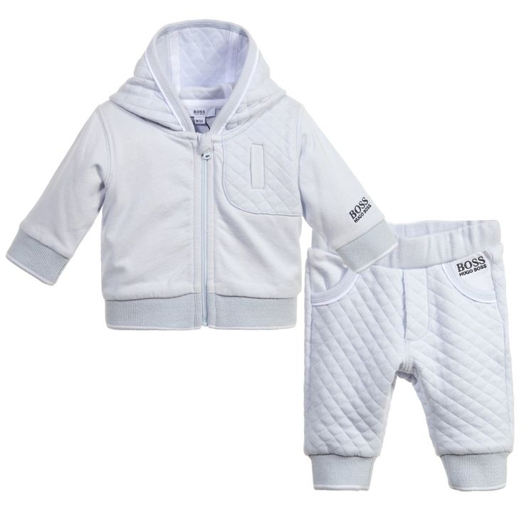 Boss Baby Boys Pale Blue Tracksuit at Childrensalon.com