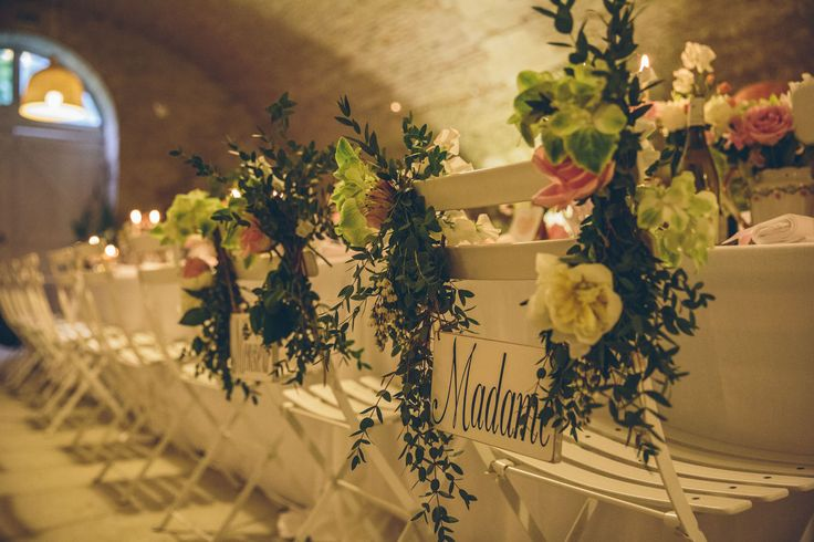 The bride and bridegrooms chairs. For Luke and Claire June 2015