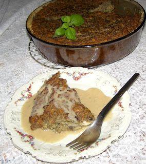 W Mojej Kuchni Lubię.. : placek ziemniaczano-pieczarkowy z sosem grzybowym....