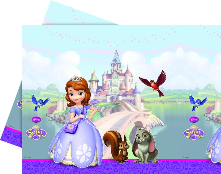 tovaglia per festa di compleanno a tema Sofia la principessa http://www.lefestediemma.com/shop/it/tovaglie/188-sofia-tovaglia-5201184820056.html