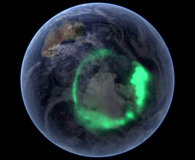 Aurora Australis Southern Lights Earth from above NASA.  Love it? .. Share it :)