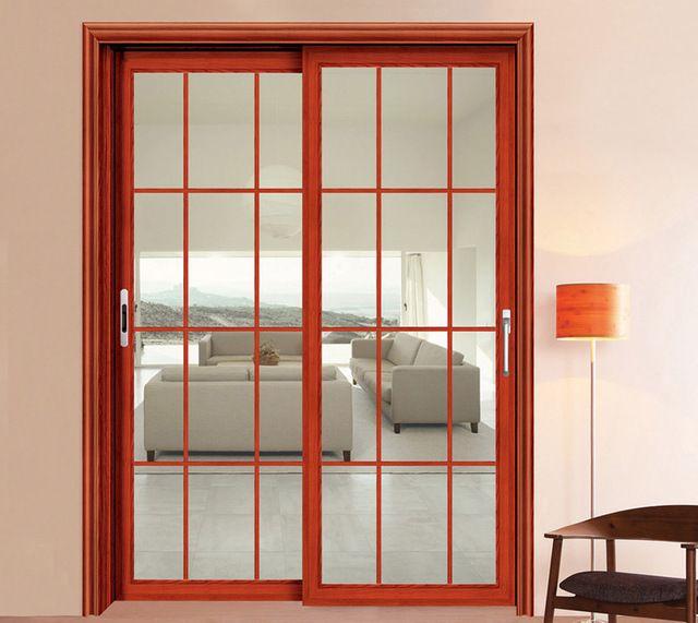 Las 25 mejores ideas sobre puertas de aluminio en for Vidrios para puertas de madera