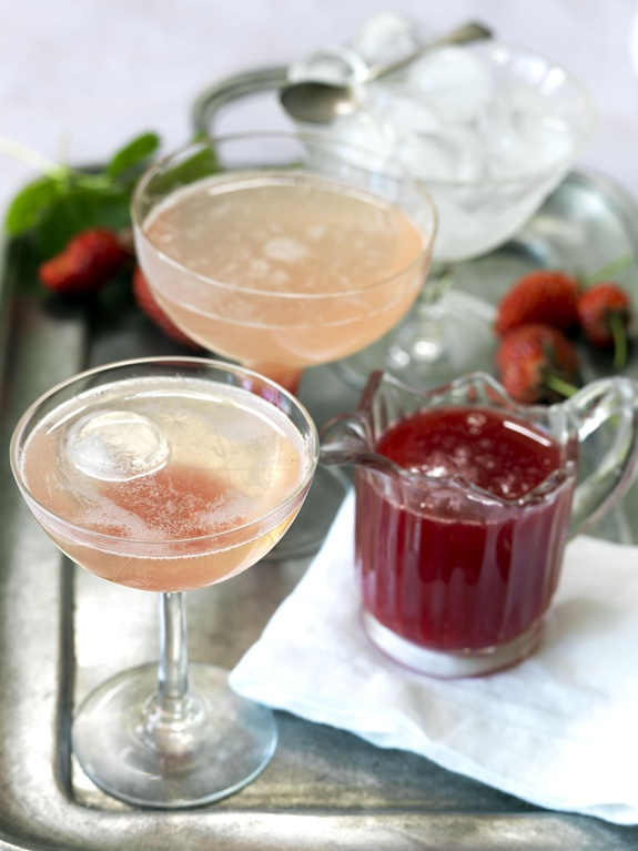 Summer drinks: home made rhubarb cocktail Photo Jane Usher