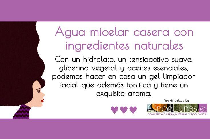 Agua micelar casera con ingredientes naturales