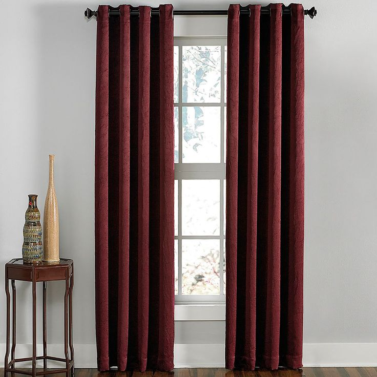 Curtainworks Lenox Room Darkening Curtain, Red
