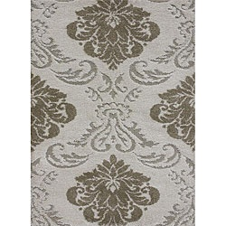@Overstock - This Jullian rug features a durable power-loom construction and a thick 1-inch pile. This shag rug features varying pile heights for added texture and an ivory and beige floral design.  http://www.overstock.com/Home-Garden/Jullian-Ivory-Shag-Rug-77-x-106/5106450/product.html?CID=214117 $219.29
