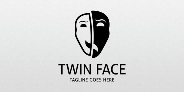 Twin Face Logo Template for Sale: 24$