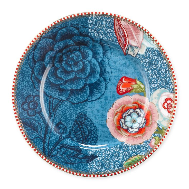 Pip Studio - Spring To Life Plate - Blue - Small