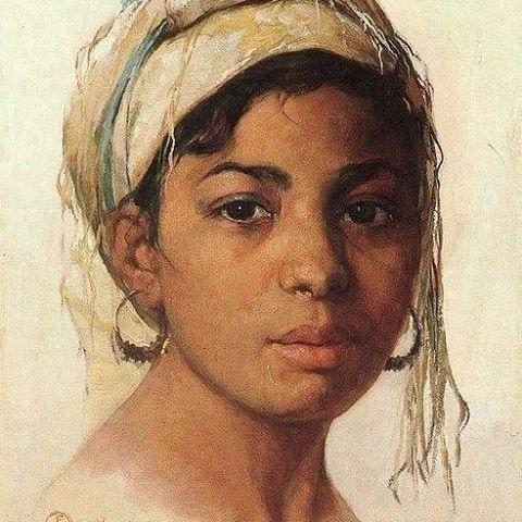صورة بنت جزائرية 1945 Portrait of an Algerian girl 1945 Émile Deckers, Peintre Belge (1885_1968) . #algerie #algeria #art #art🎨 #artwork #artofinstagram #paint #painting #الجزائر #الجزائر_المحمية_بالله #لوحات_فنية #لوحات_فنية_جزائرية#peinturedalgerie