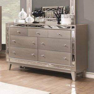 Leighton+7+Drawer+Dresser+in+Mercury+Metallic+Finish