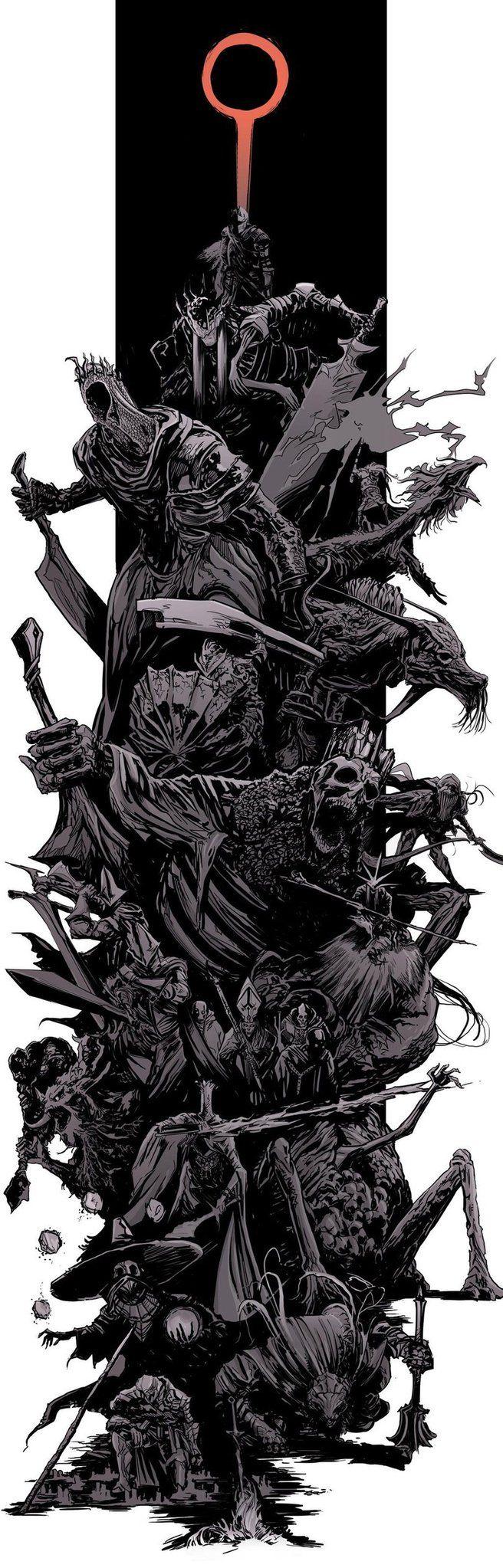 Dark Souls bosses splash art http://ift.tt/2eieIhP