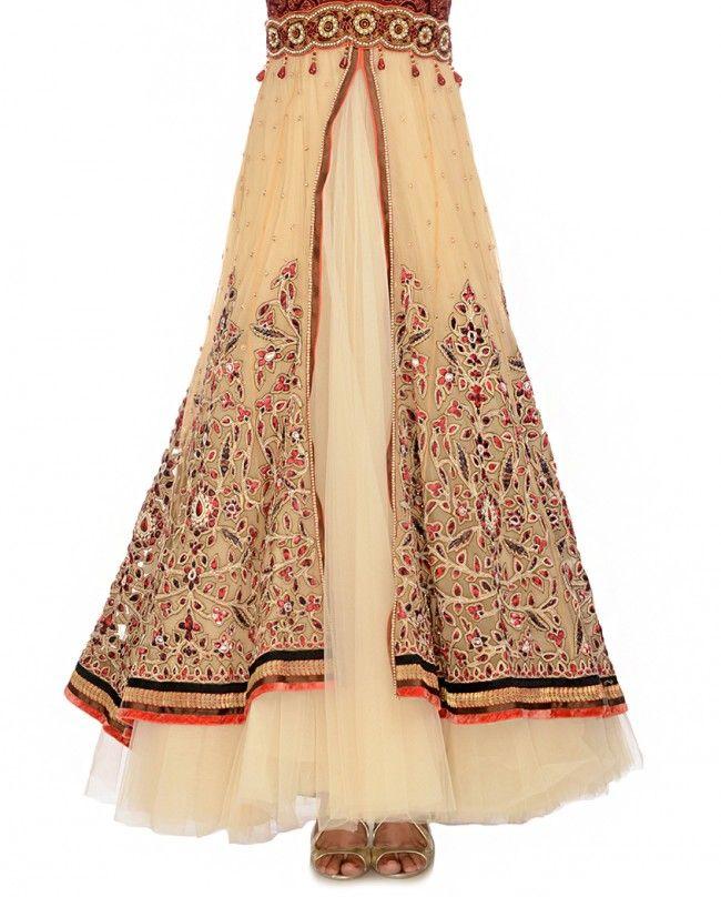 Pale Orange Charminar Kalidar - Occasion Wear - Shop Women Tarun Tahiliani
