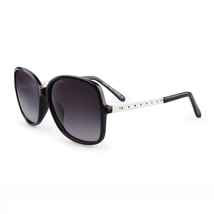 tianliang04Femmes Grand cadre lunettes de soleil vintage Flat Top Lunettes de soleil oversize style de lunettes de soleil carrés femmes Eyewear UV400, Black w smoke