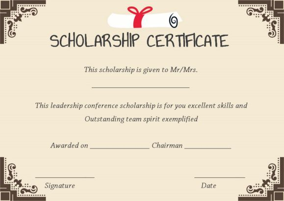 11 best scholarship certificate template images on pinterest scholarship winner certificate template yelopaper Images