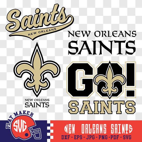 New Orleans Saints SVG, Saints Football Clipart, New Orleans Saints  Monogram, Orleans Silhouette, Screen Printing, Play_026