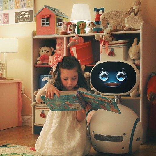 The $599 ASUS Zenbo robot is just trying to help out around the house. The robotic butler looks like a cross between Wall-E and Sico. Zenbos got a camera with facial recognition capable of making video calls and monitoring the home remotely coupled with voice commands and vocal responses. It can play music and movies provide reminders to take medication and head to appointments and help out with various online tasks.  Check it out in action through the link in our bio.  #robots #robot #ASUS…