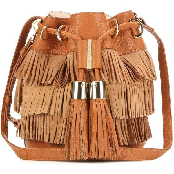 e8f1bf679ce7 Womens Michael Kors Camden See By Chloé Vicki Small Fringed Suede and  Leather Bucket Bag (10.599.335 VND ...
