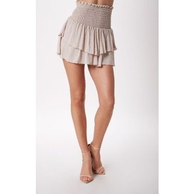 Alessandra Ambrosio style. ale by Alessandra Karma Layer Silk Skirt. View this product here http://wheresthatstyle.com/products/12376-ale-by-alessandra-karma-layer-silk-skirt