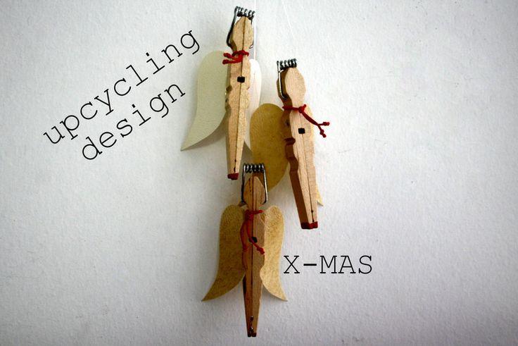 3 Engel aus Wäscheklammern  von YALOS auf DaWanda.com