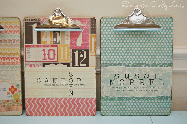 Personalized Clip Boards | Teacher Appreciation ideas