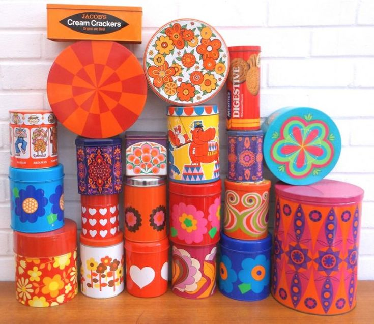 Vintage tin tastic storage - kitsch china, barware & more from the 50s, 60s & 70s, Brockenhurst, New Forest, Hampshire - Pineapple Retro