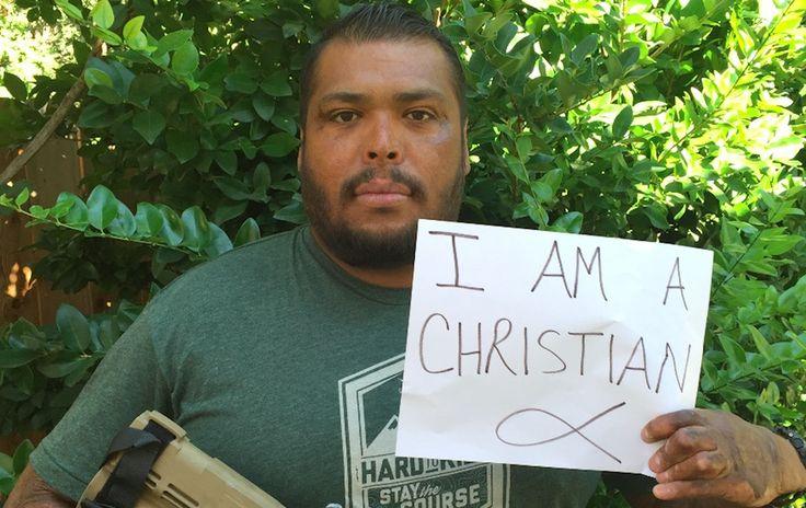 Purple Heart recipient and popular blogger, Sgt. Omar Avila, sent us this pic of himself in response to the Umpqua Community College massacre.