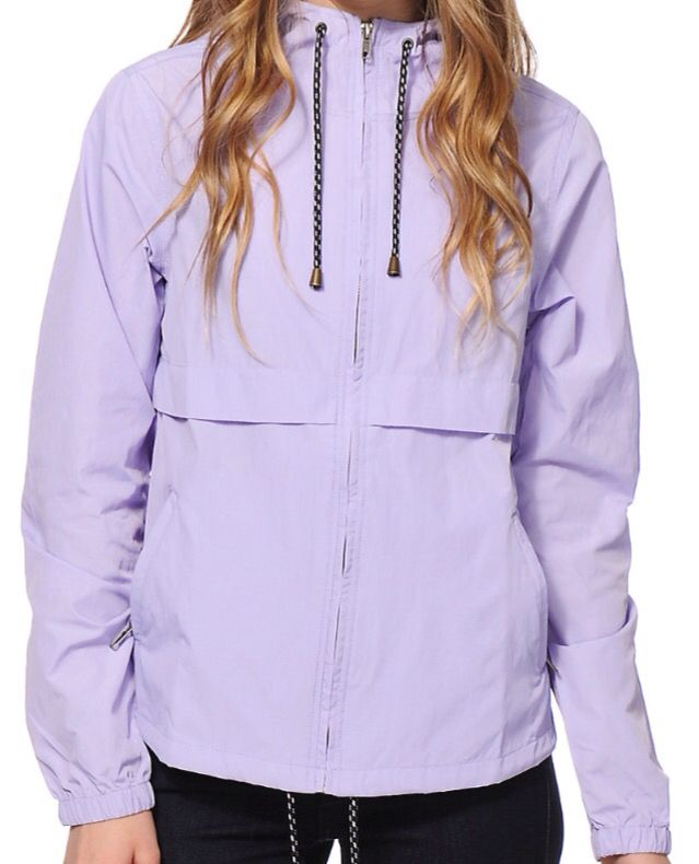 Pastel Purple Wind breaker rain and wind proof from Zumiez
