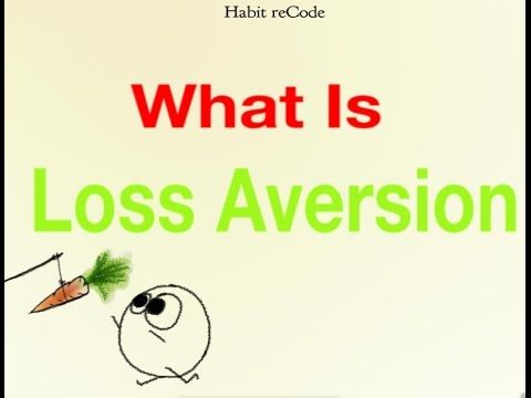 Loss aversion by Habit recode - YouTube
