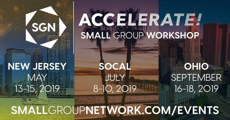 Accelerate the health & growth of your small group ministry in 2019 by attending…