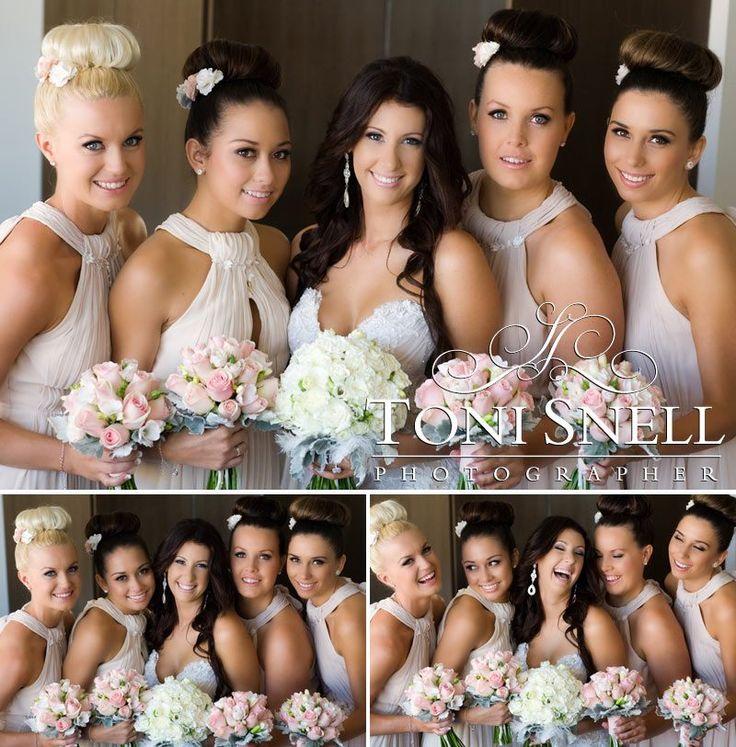 Hair and Makeup by Harpier! #weddinghair #weddingmakeup #bridalmakeup #bridal #bridalhair #highbun #loosecurls #gorgeousbride #mobilestylist #brisbane #goldcoast #sunshinecoast www.harpier.com