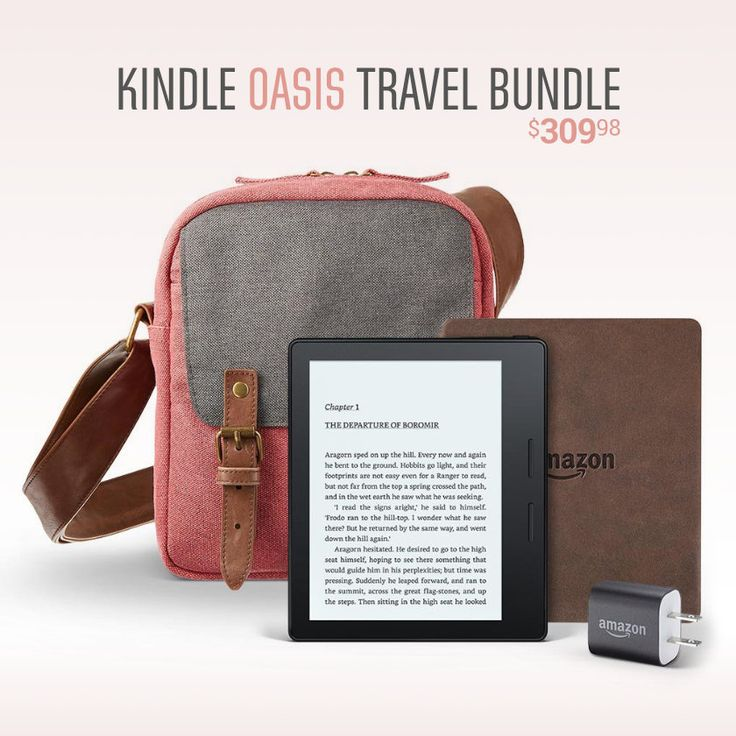 ☀️ Kindle Oasis with leather charging case + power adapter + free Caseable travel bag worth $70