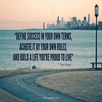Define success on your own terms #success