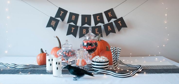Trick or Treat Candy Station for Halloween parties